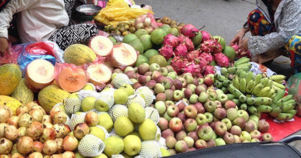 bàu bầu không nên ăn trái cây chưa rửa sạch