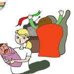 Sinh con mới hiểu lòng chồng (tranh biếm họa)
