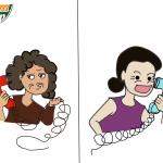 Sự khác biệt giữa mẹ chồng & mẹ đẻ (tranh biếm họa)