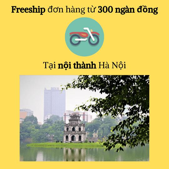freeship nội thành Hà Nội từ 300 ngàn trở lên